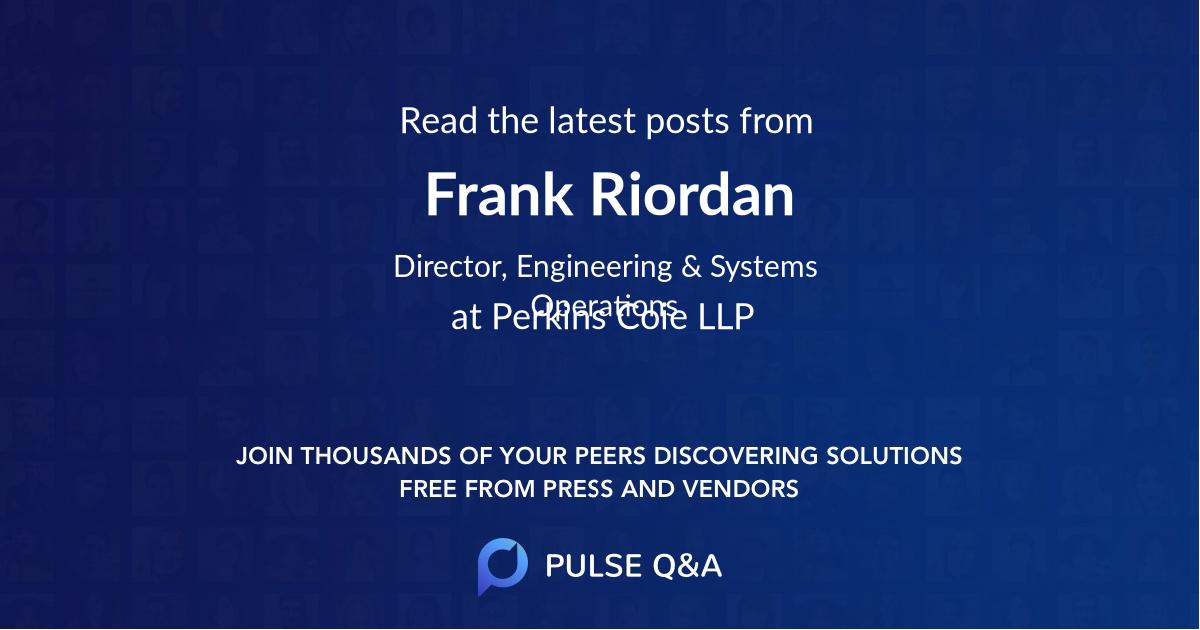Frank Riordan