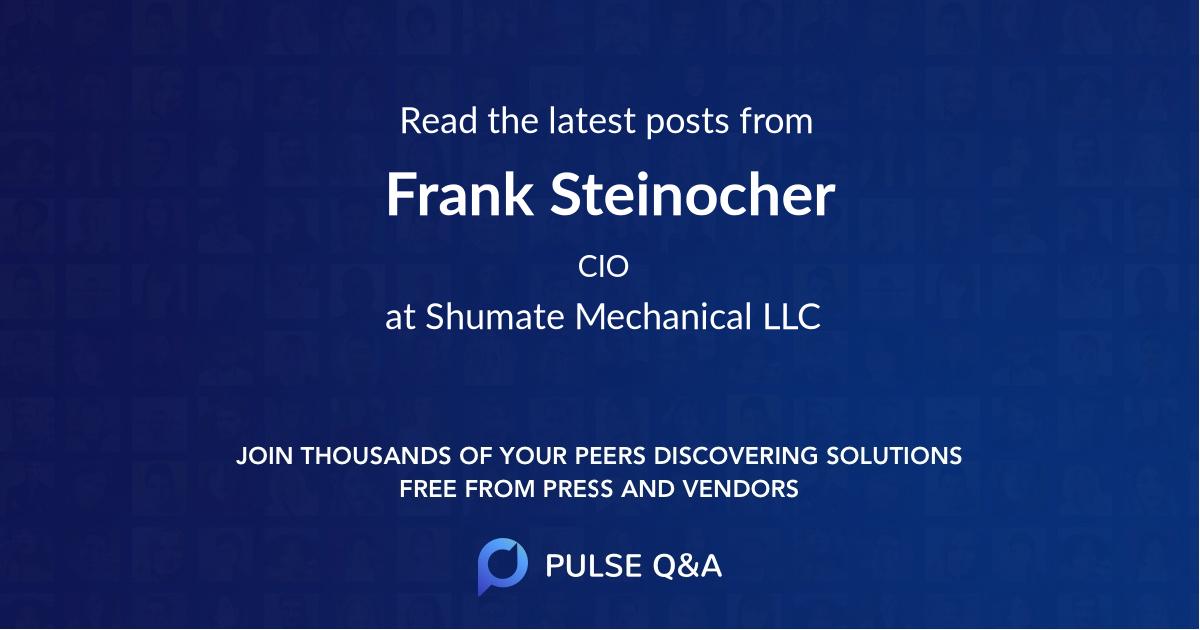 Frank Steinocher