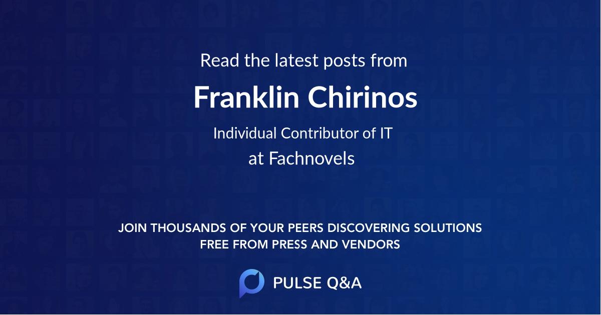 Franklin Chirinos