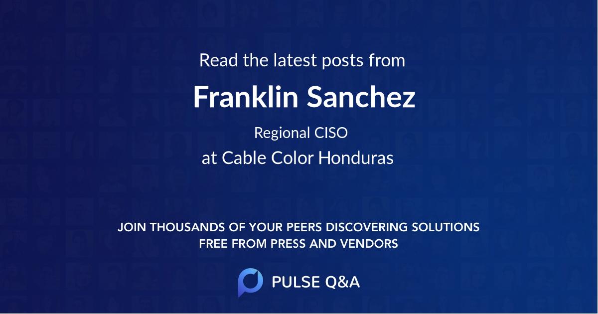 Franklin Sanchez