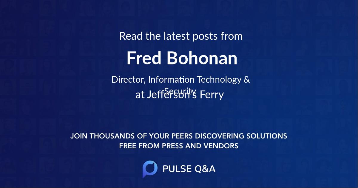 Fred Bohonan