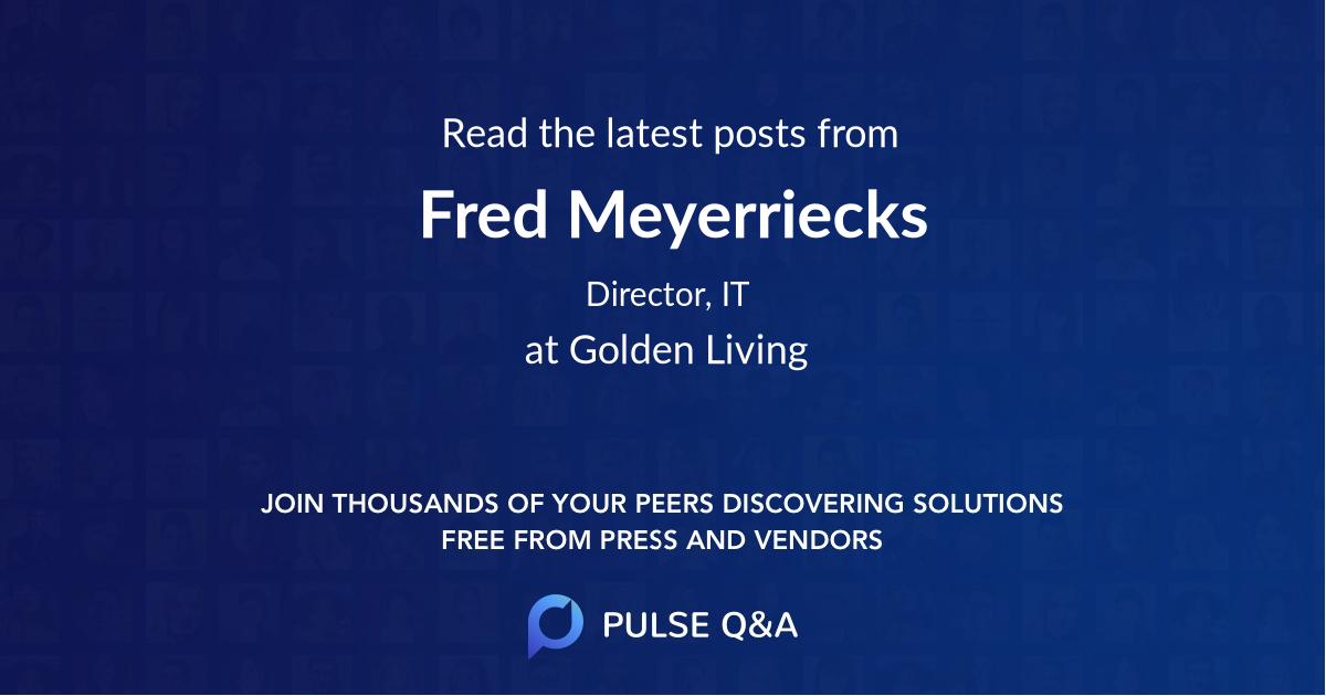 Fred Meyerriecks