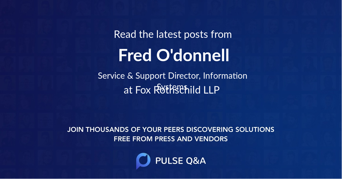 Fred O'donnell