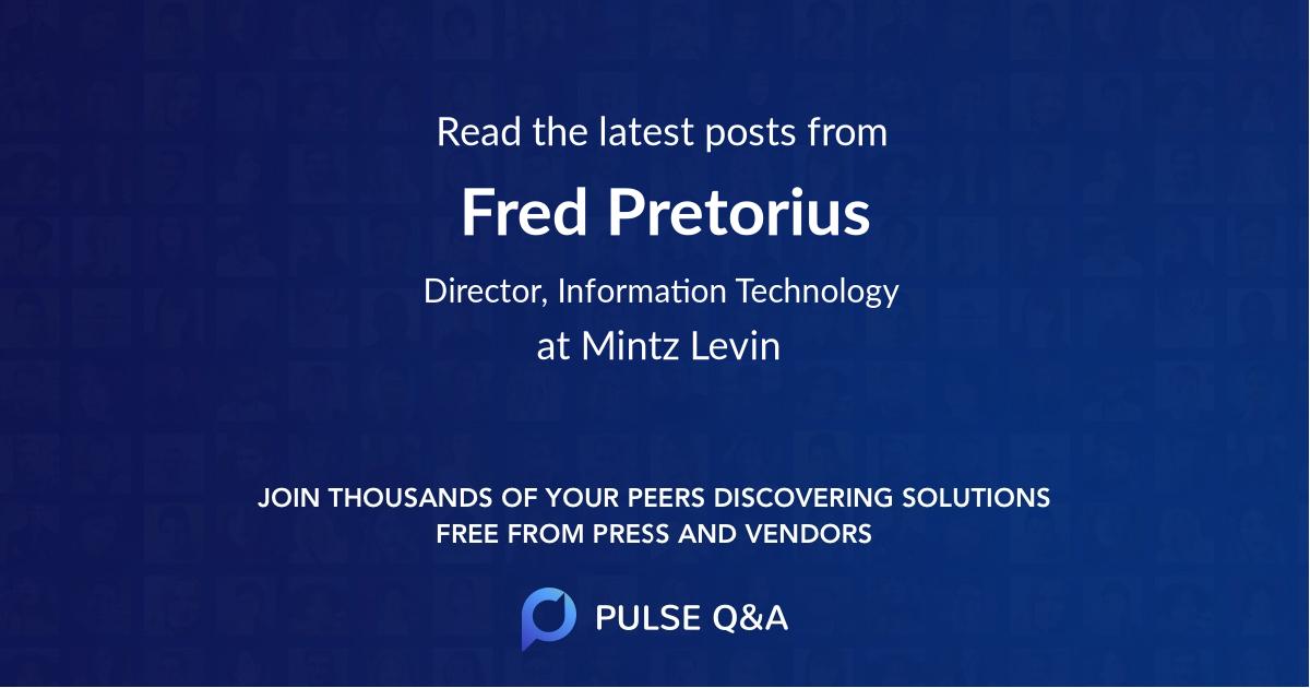 Fred Pretorius