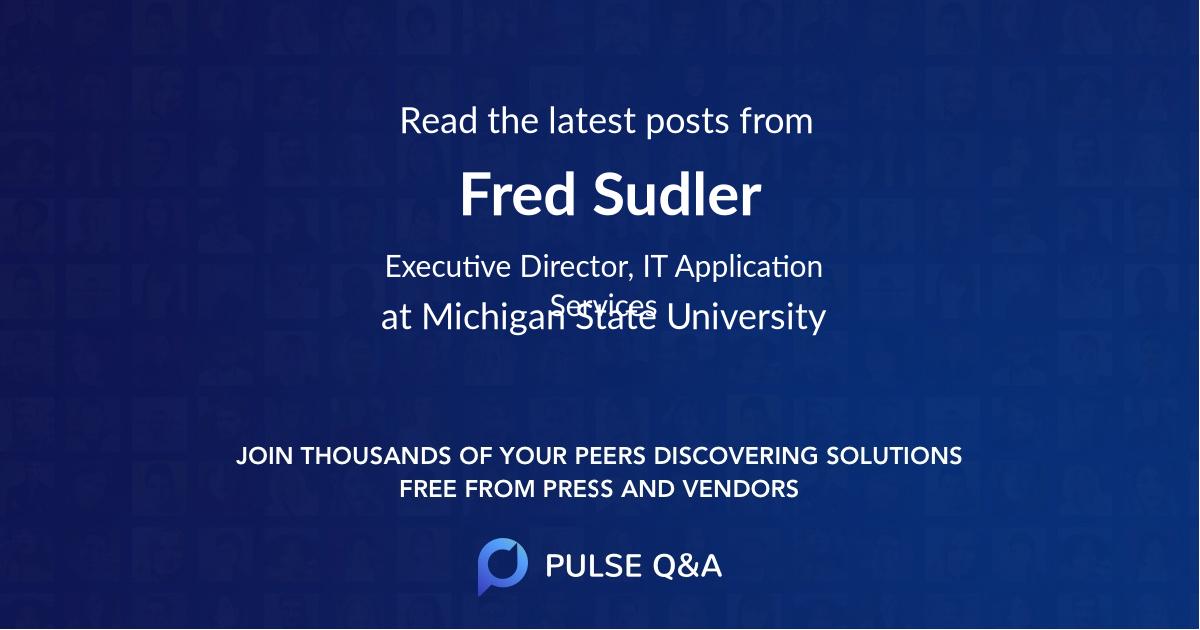 Fred Sudler