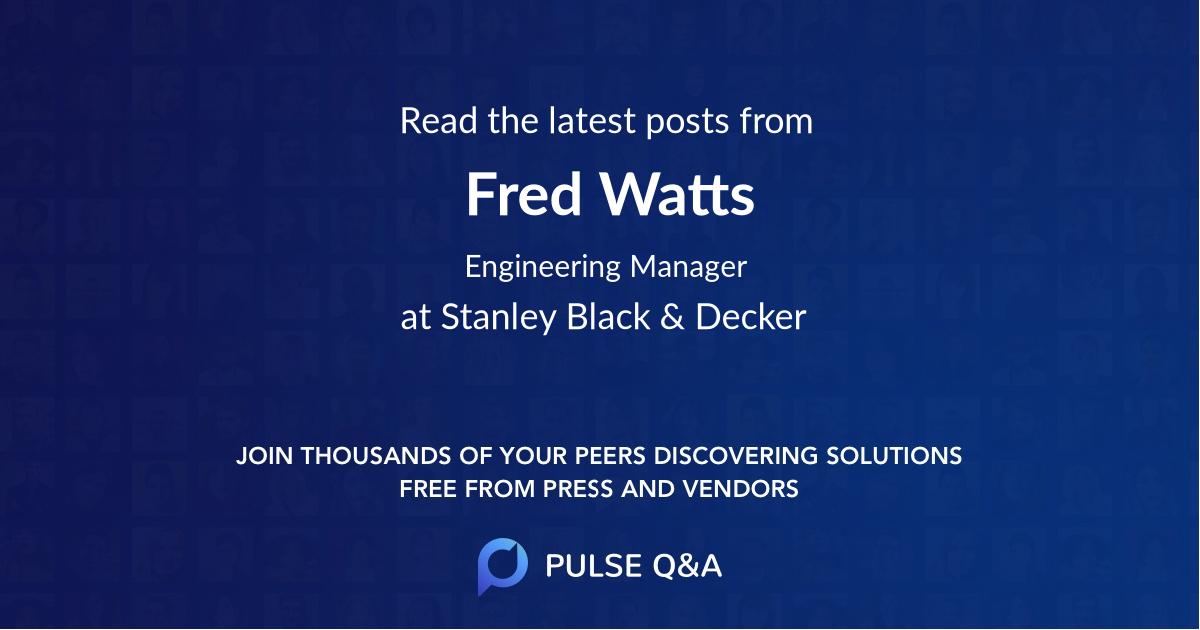 Fred Watts