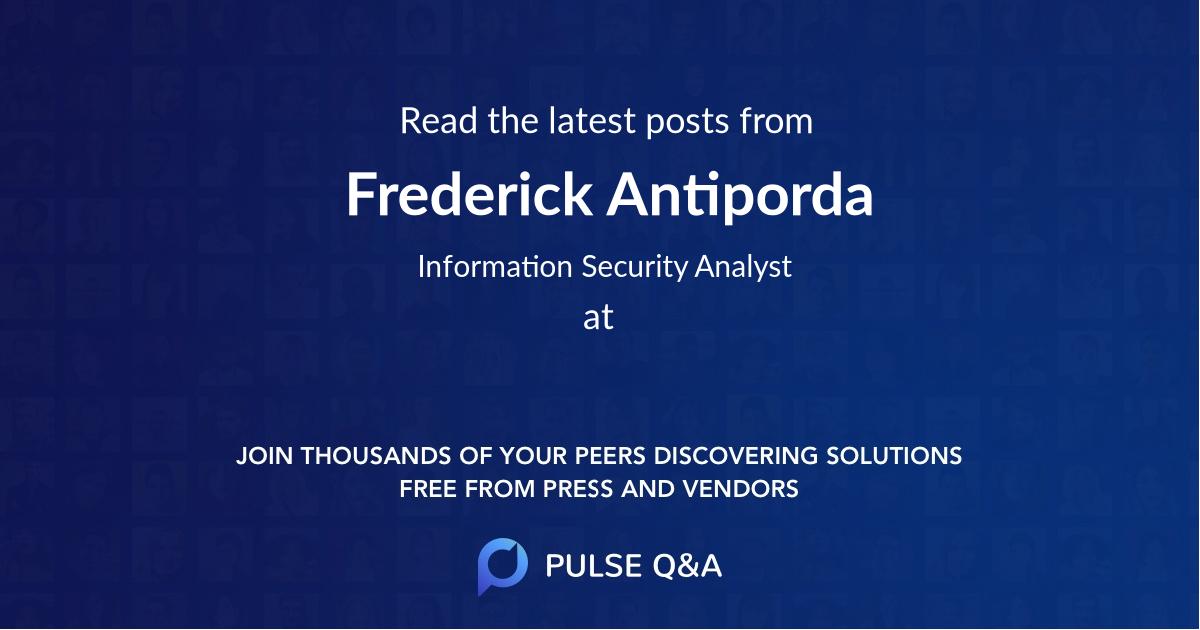 Frederick Antiporda