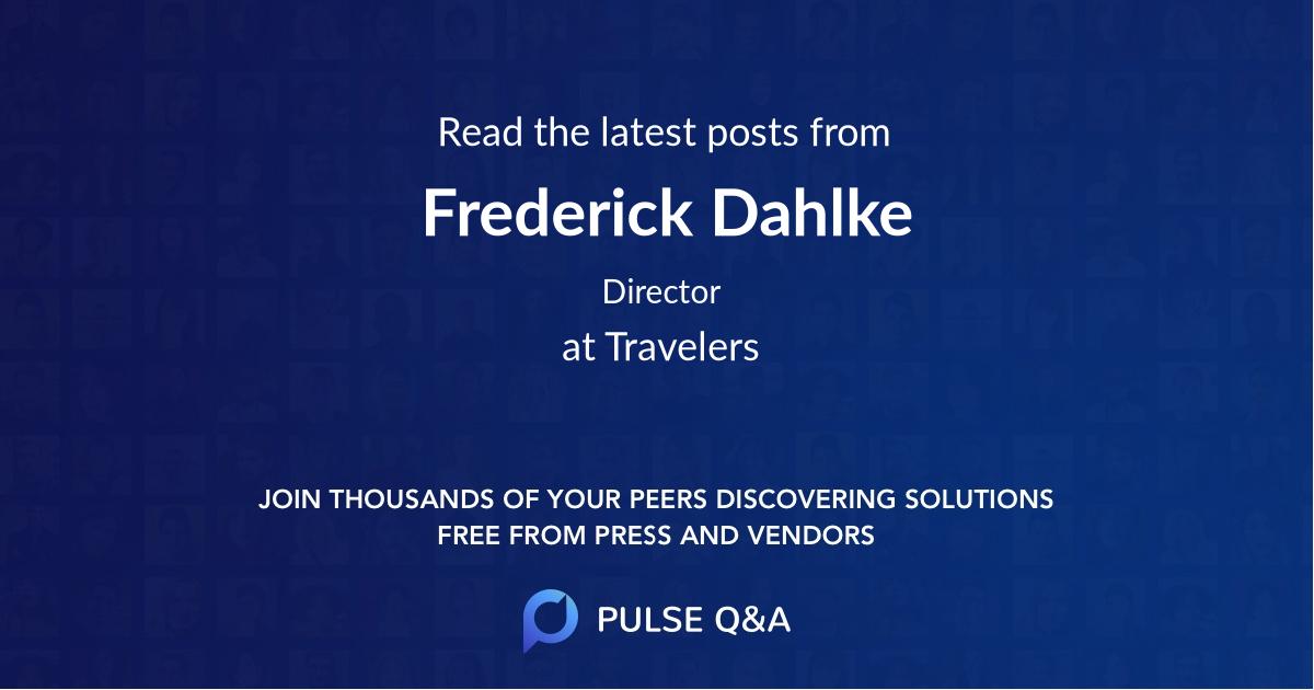 Frederick Dahlke