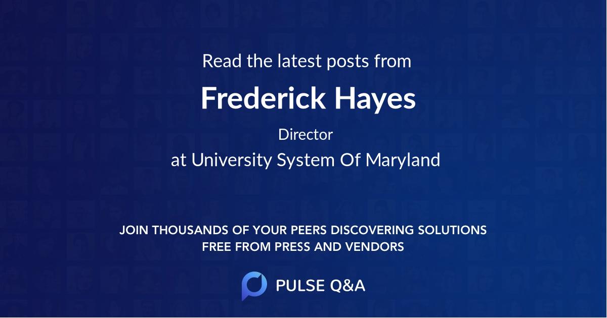 Frederick Hayes