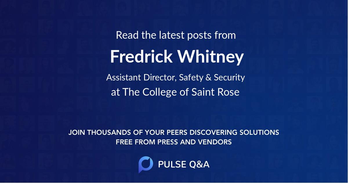Fredrick Whitney