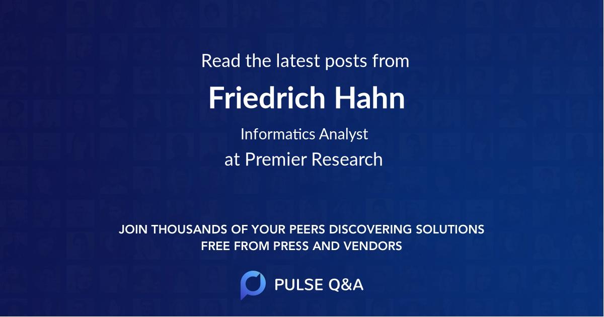 Friedrich Hahn