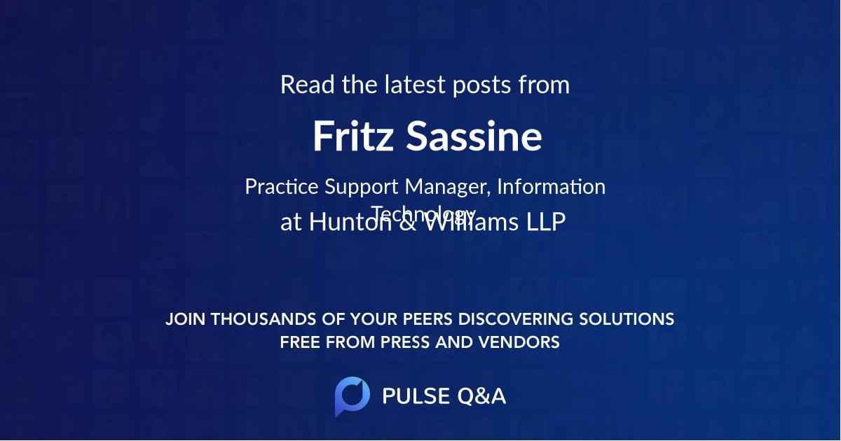 Fritz Sassine