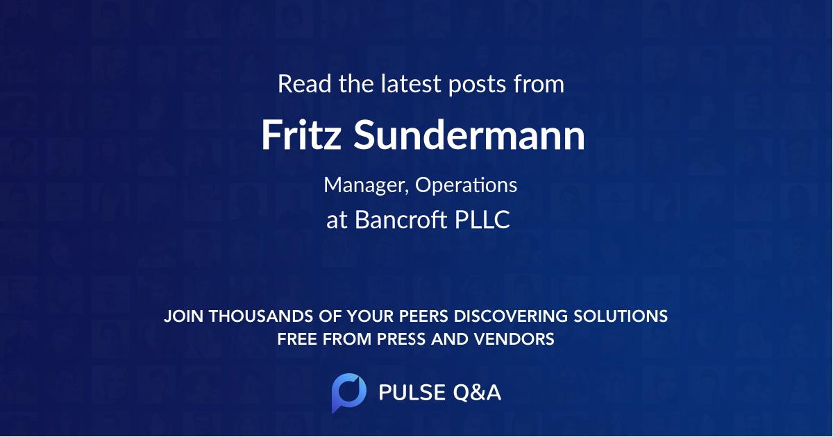 Fritz Sundermann