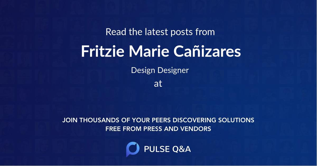 Fritzie Marie Cañizares