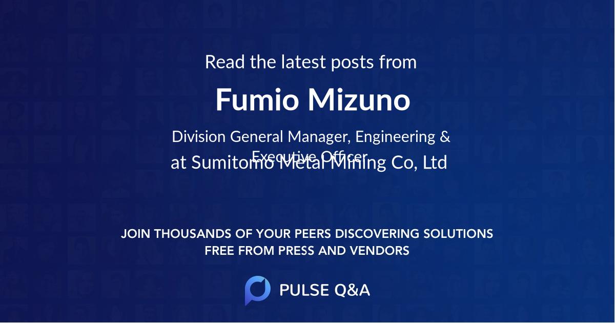 Fumio Mizuno