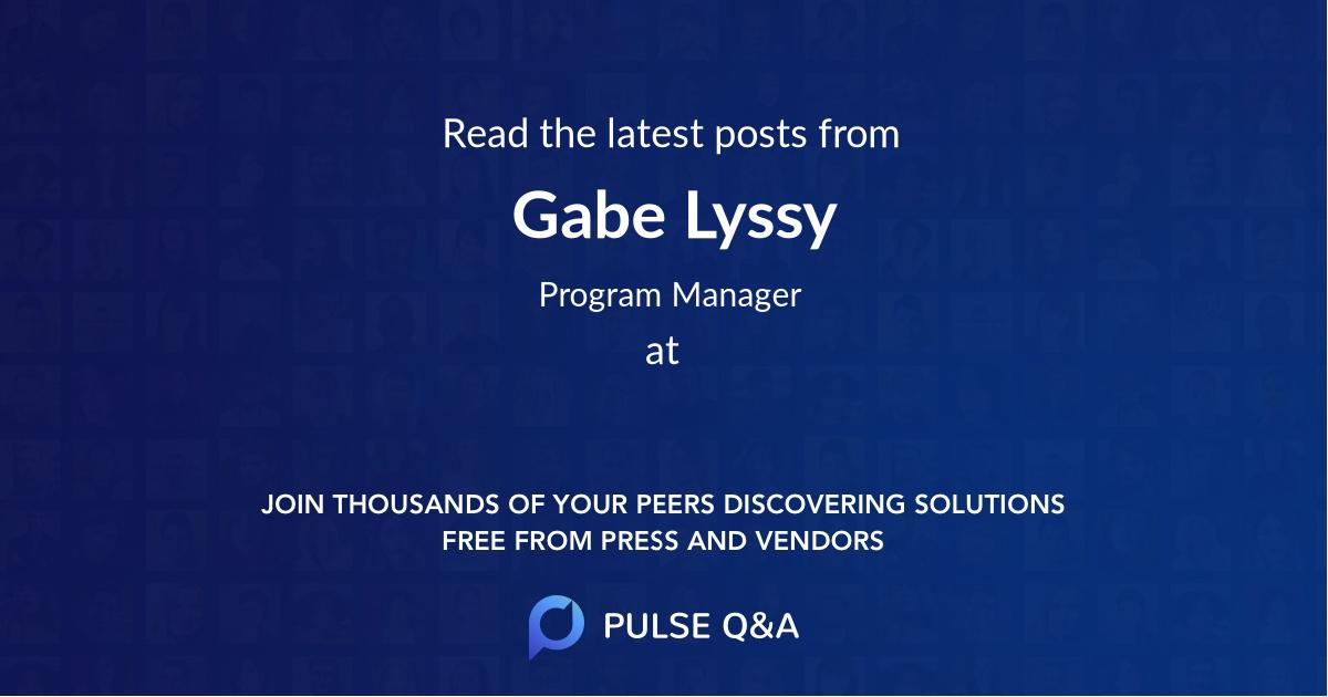 Gabe Lyssy