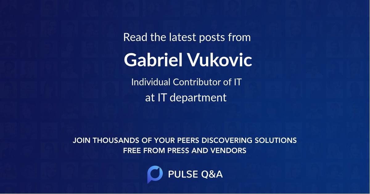 Gabriel Vukovic
