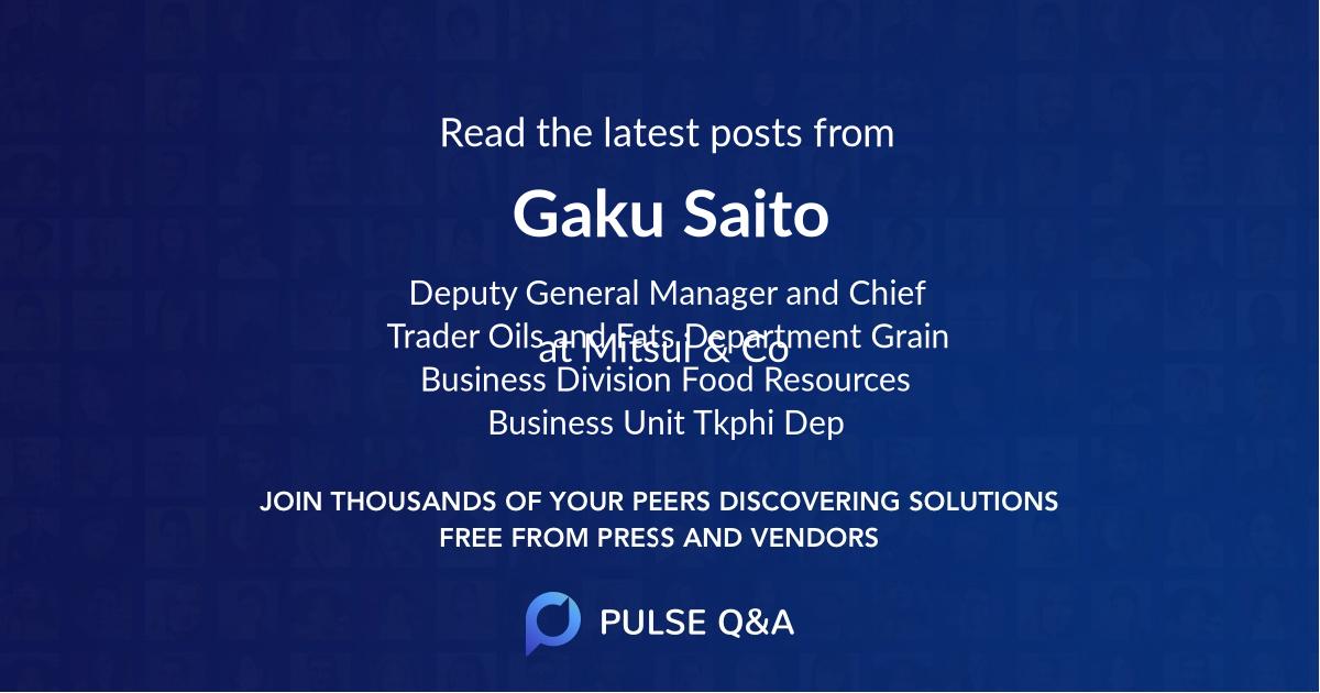 Gaku Saito