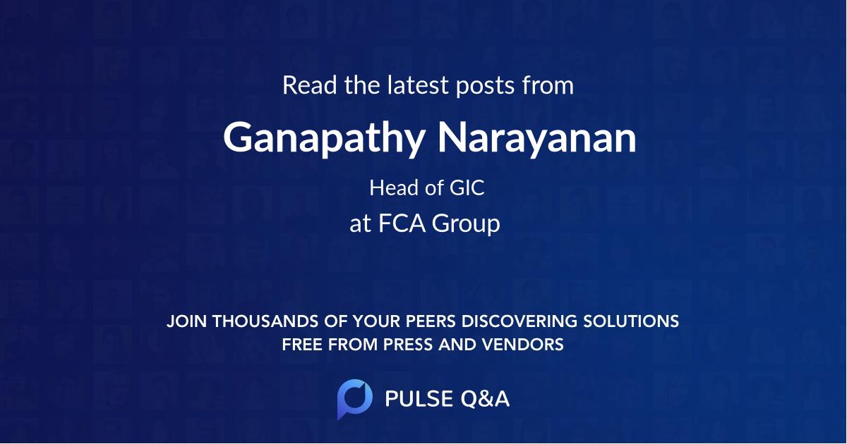 Ganapathy Narayanan