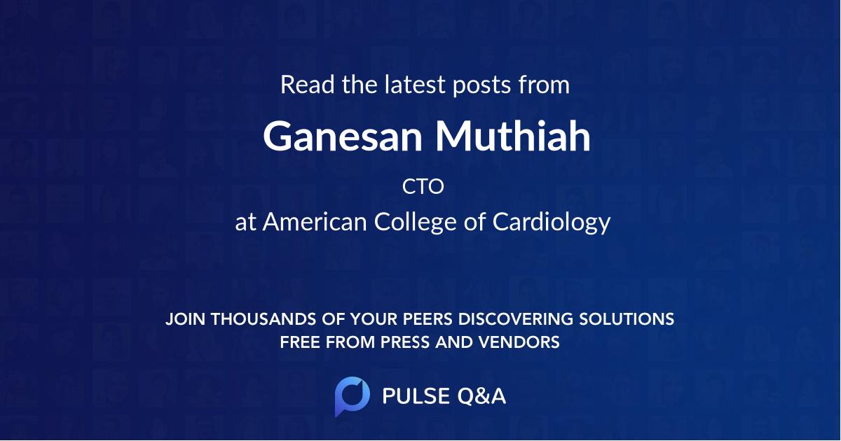 Ganesan Muthiah