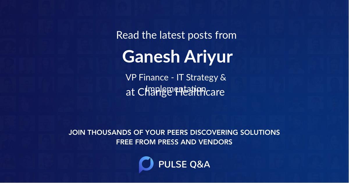 Ganesh Ariyur