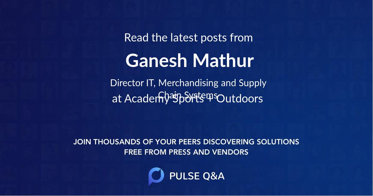 Ganesh Mathur