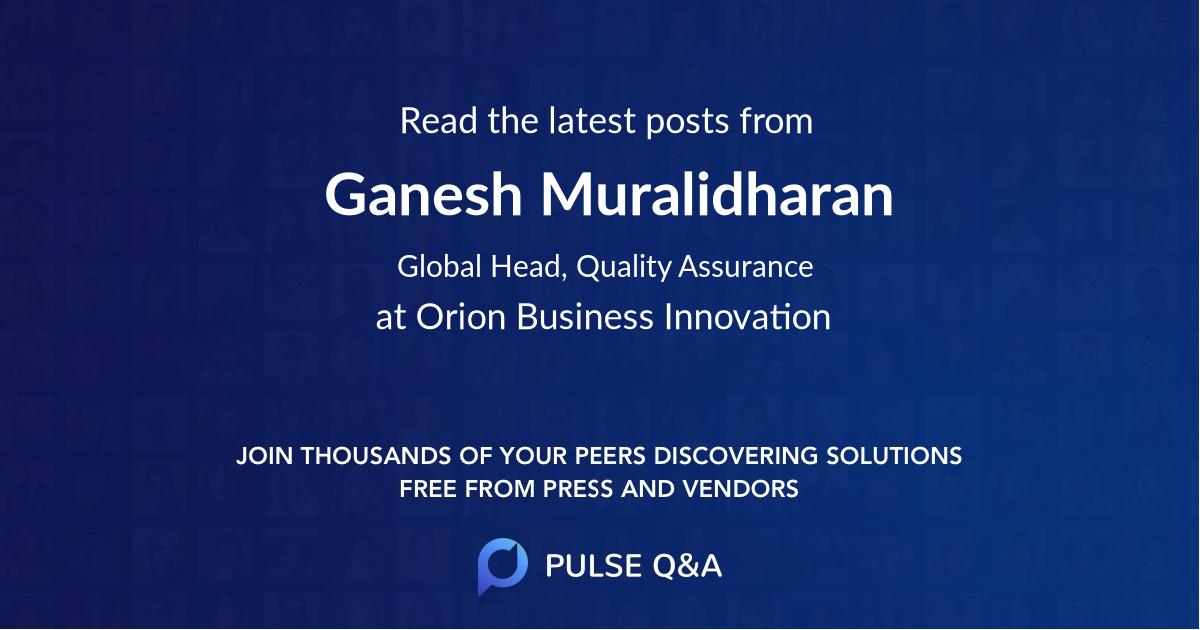 Ganesh Muralidharan