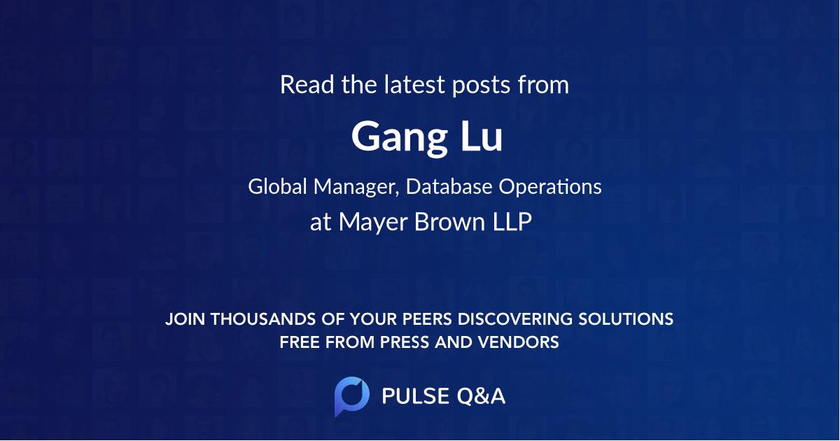 Gang Lu