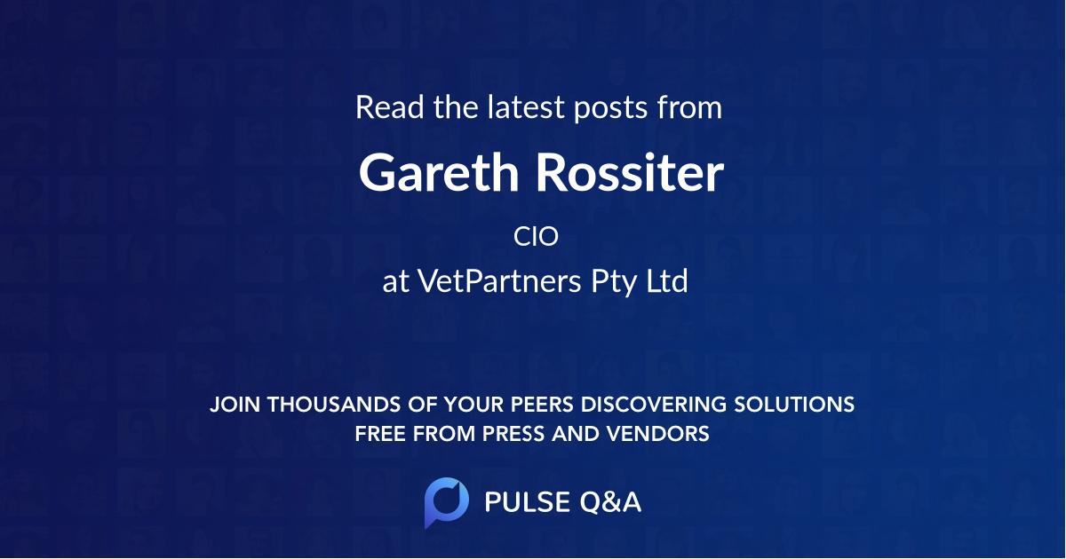 Gareth Rossiter