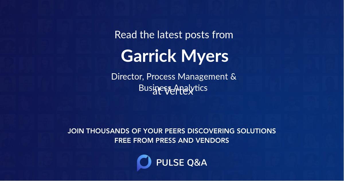 Garrick Myers