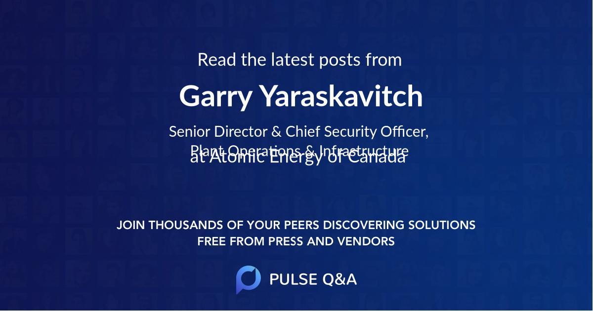 Garry Yaraskavitch