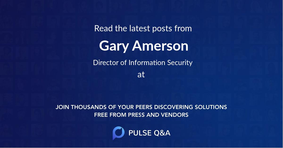 Gary Amerson