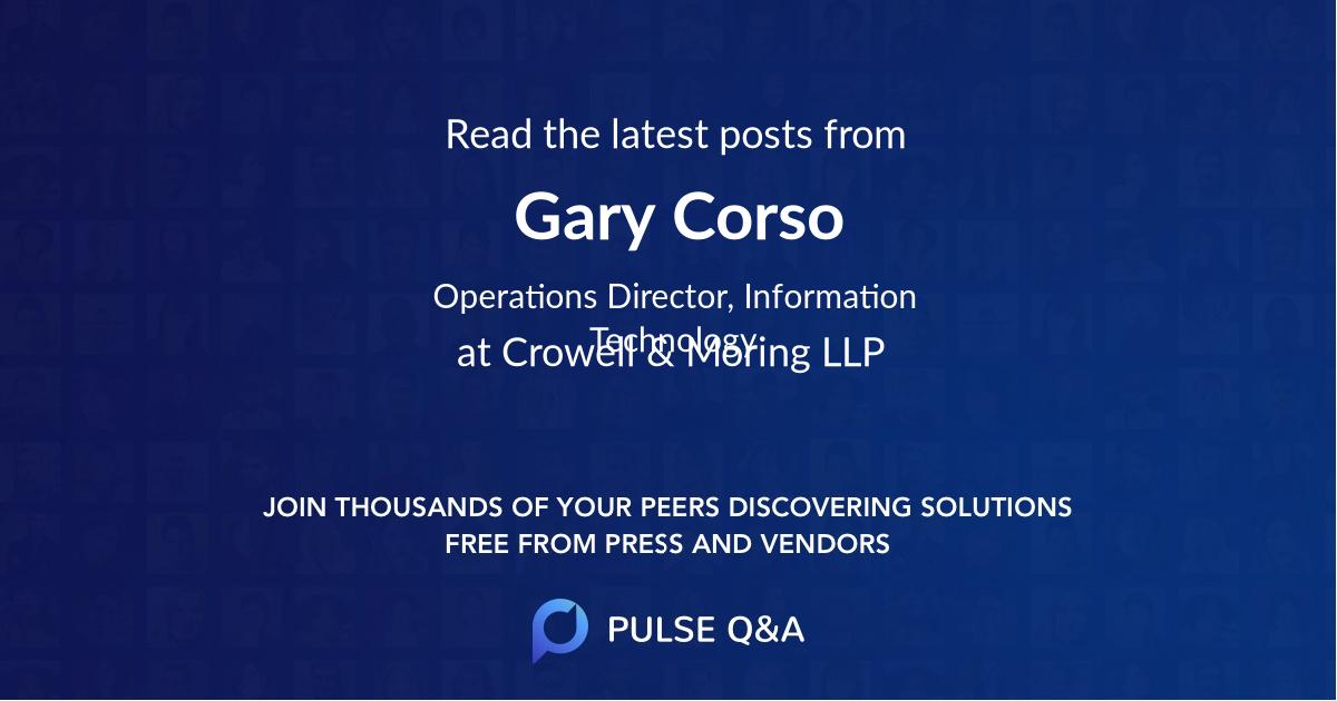 Gary Corso