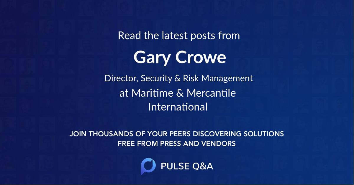 Gary Crowe