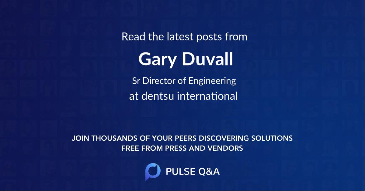 Gary Duvall