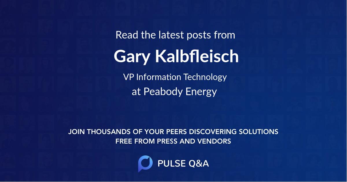 Gary Kalbfleisch