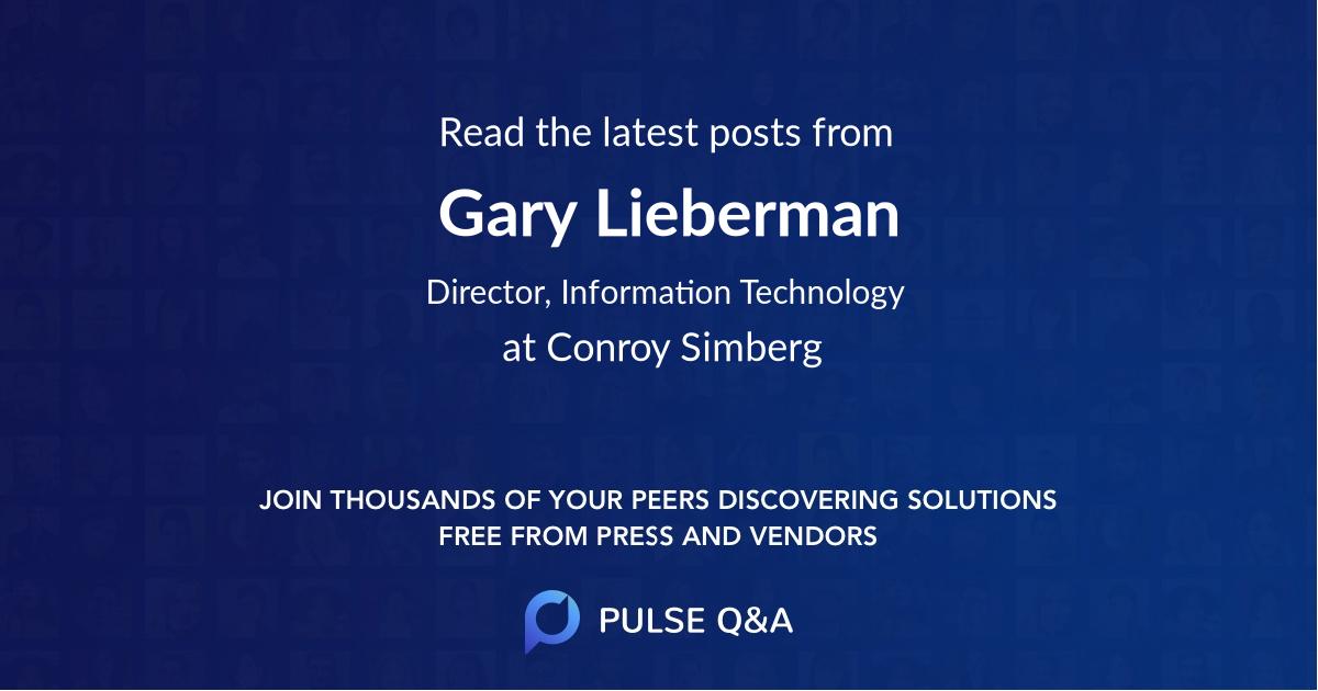 Gary Lieberman