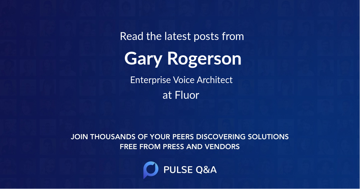 Gary Rogerson