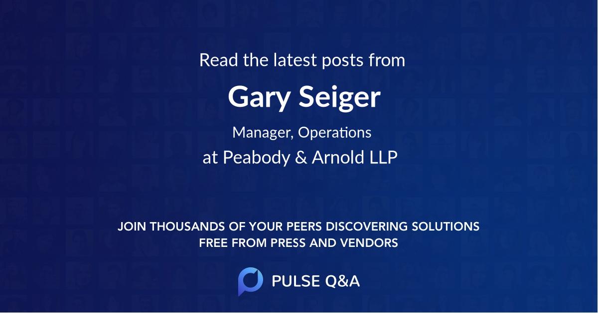Gary Seiger
