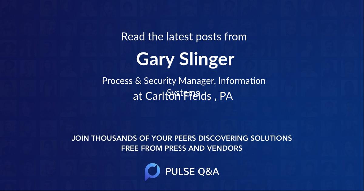 Gary Slinger