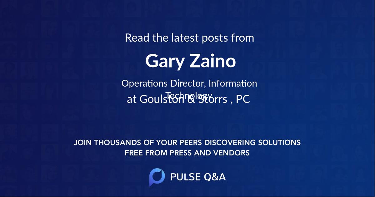 Gary Zaino