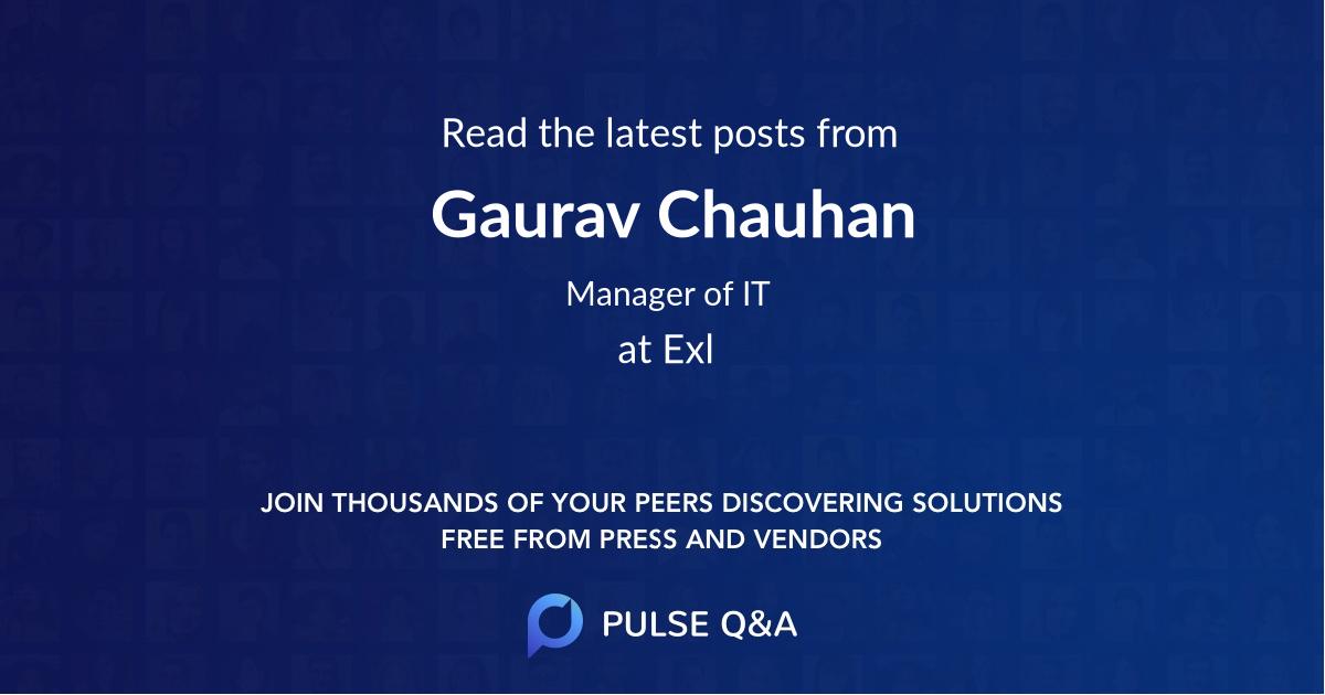 Gaurav Chauhan