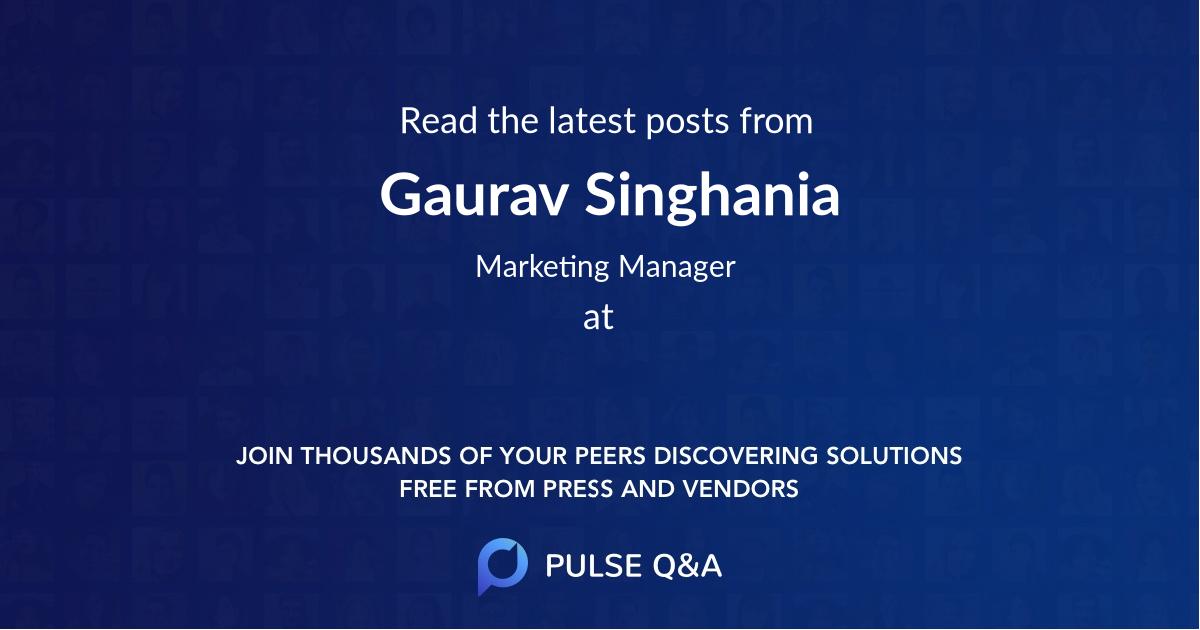 Gaurav Singhania