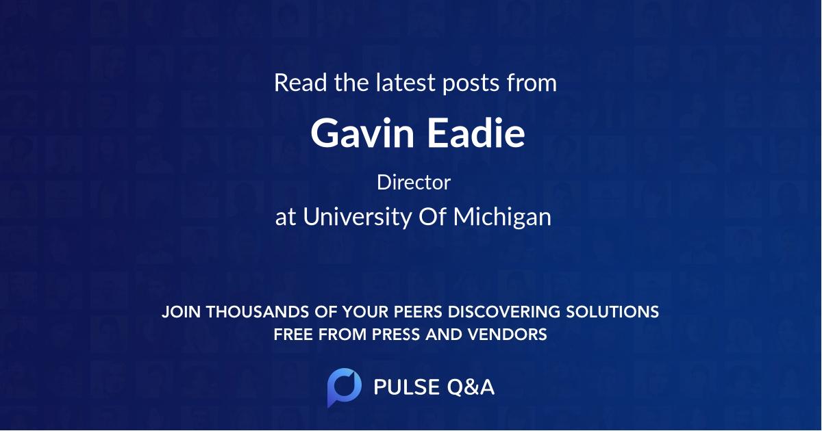 Gavin Eadie