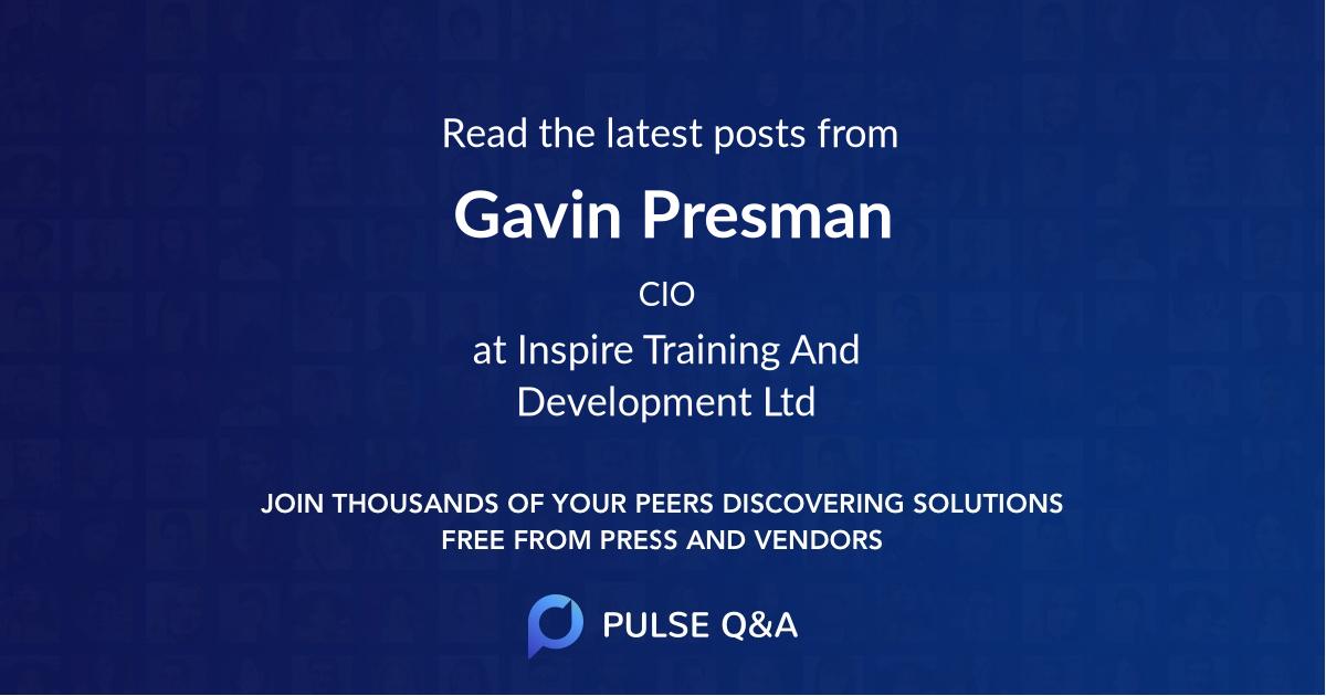 Gavin Presman