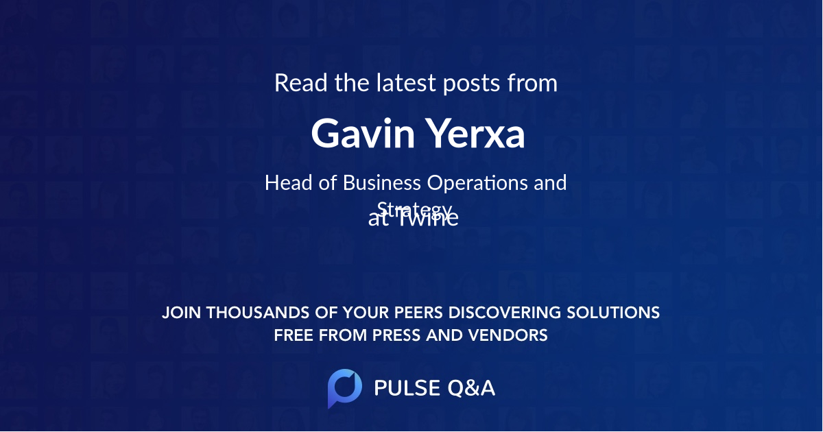 Gavin Yerxa