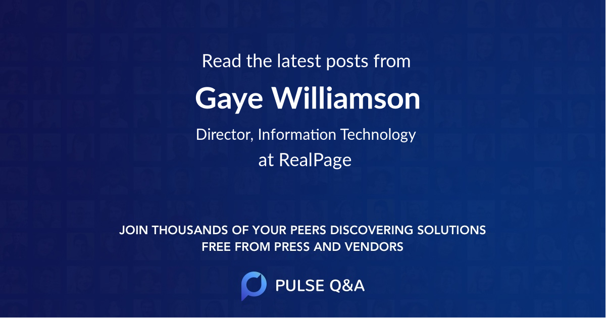 Gaye Williamson