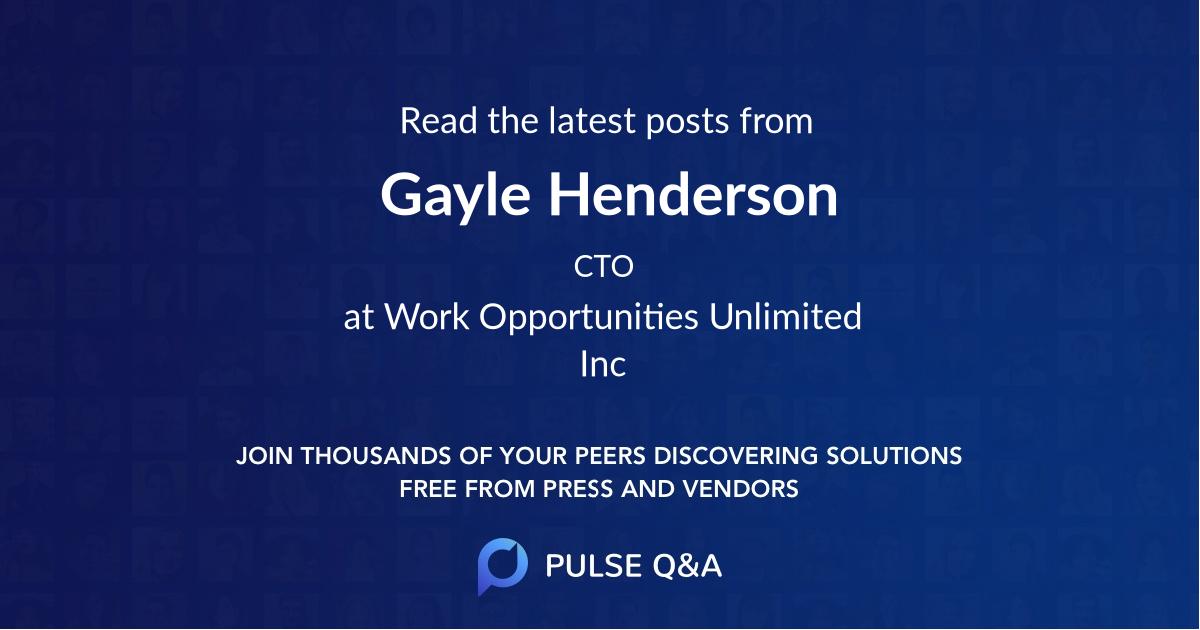 Gayle Henderson