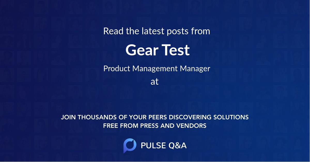 Gear Test