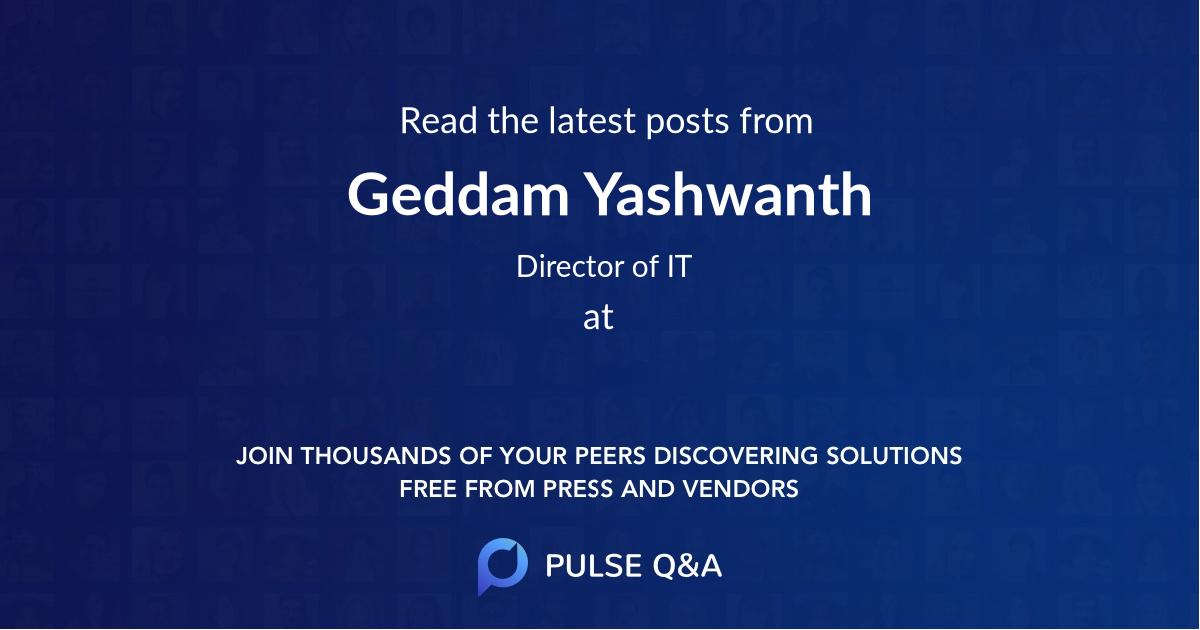 Geddam Yashwanth